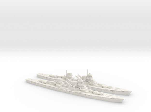 Von der Tann (Panzerschiff P) 1:1800 x2 3d printed