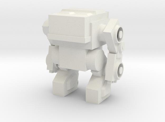 Robot 0039 Mech Robot in White Natural Versatile Plastic