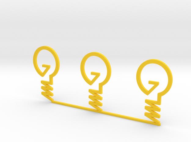 ''INVENT'' Lightbulb Bookmark X 3 3d printed