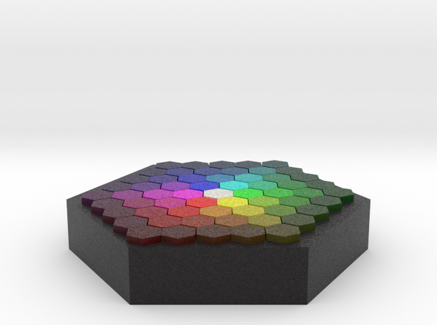 Color Wafer 3d printed