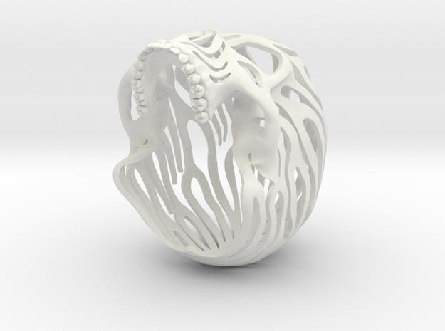 Skull Flames P2 Top- 6.2cm in White Natural Versatile Plastic