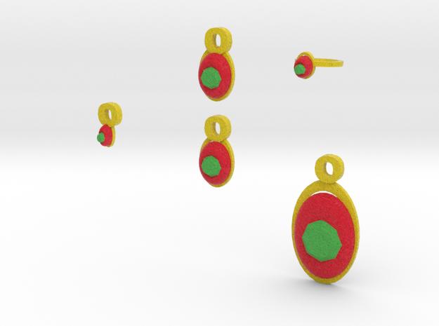 Emerald Jewelry Set 3d printed