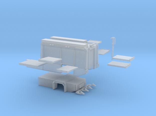 Aufbau AT3 für Scaniastandardkabinen-lang  in Smooth Fine Detail Plastic