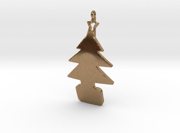 xmas tree pendant 3d printed
