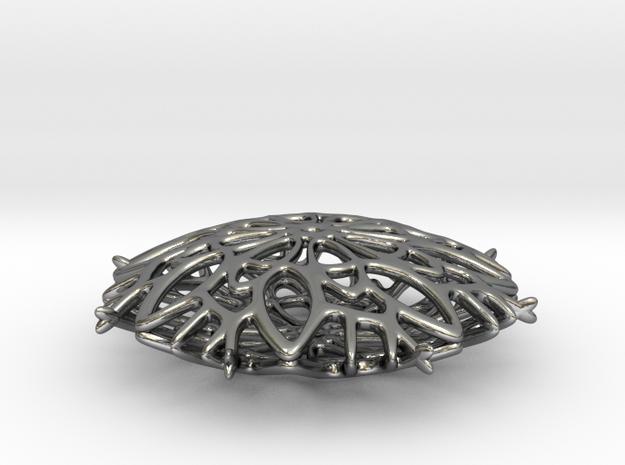Rosetta Snowflake Pendant 3d printed