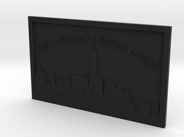 NYC Skyline in Black Natural Versatile Plastic