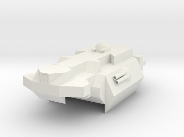 Destroyer-Class Ship in White Natural Versatile Plastic