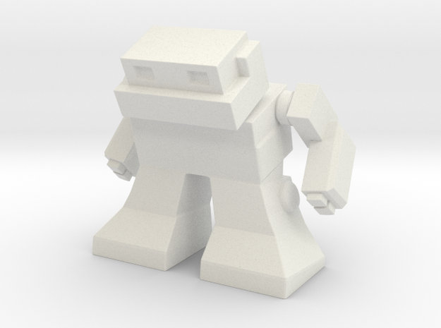 "Robot 0041 Mech Bot v2 1.75"" tall in White Strong & Flexible"