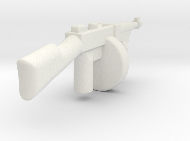 tommygun1 in White Natural Versatile Plastic