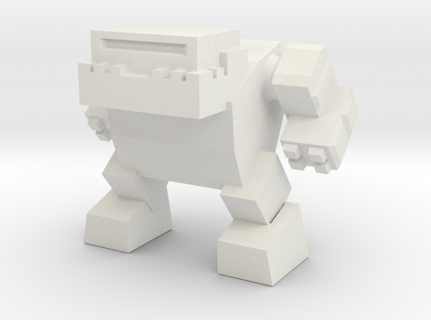 Robot 0042 Mech Bot v1 Bulldog in White Strong & Flexible