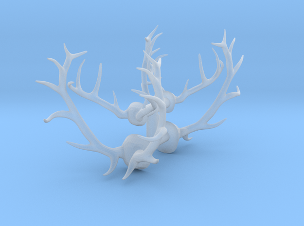 1/48 Elk and Deer antlers in Smooth Fine Detail Plastic