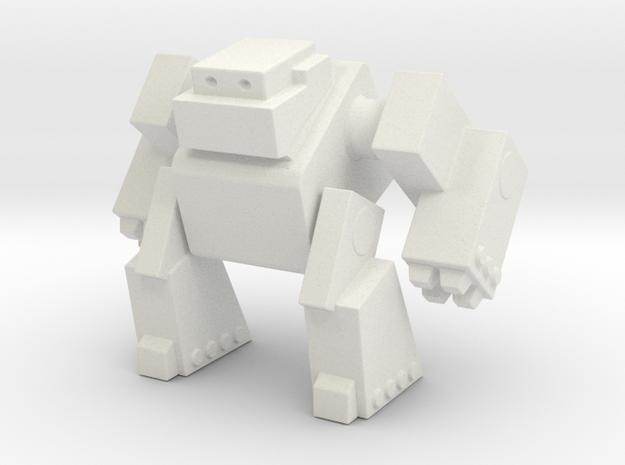 Robot 0043 Mech Bot Big Gun Arms in White Natural Versatile Plastic