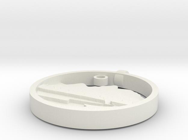 2.4 in White Natural Versatile Plastic
