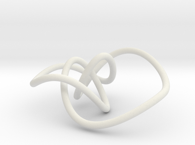 Mathematical knot, thin in White Natural Versatile Plastic