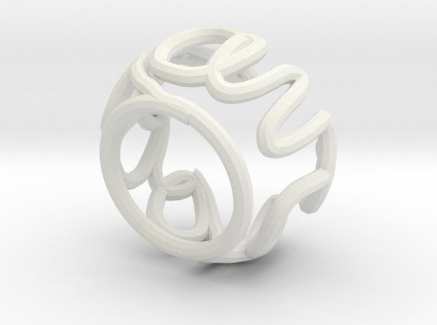 Swirl (27) in White Natural Versatile Plastic