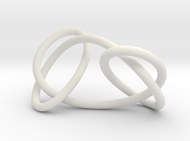 Granny knot, 6cm version in White Natural Versatile Plastic