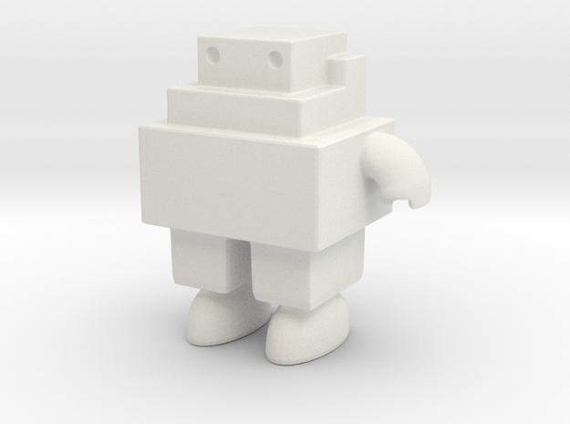 Robot 0051 Jaw Bot Turbine v1 in White Natural Versatile Plastic