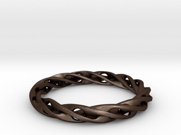Möbius strip Ring-01#8 3d printed
