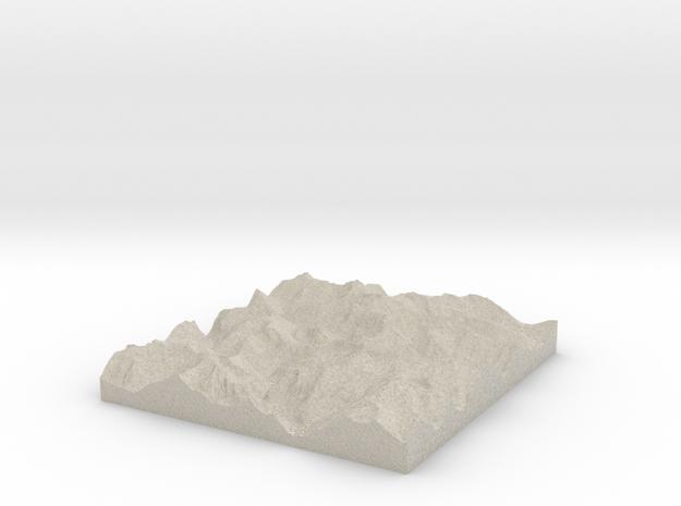 Model of Mount Crowder 3d printed