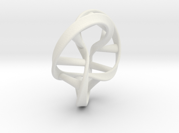 Moebius DNA in White Natural Versatile Plastic