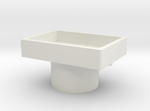 Button Base in White Natural Versatile Plastic