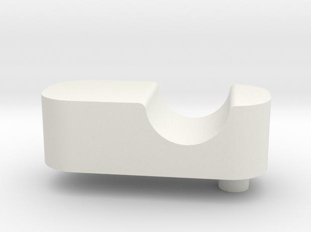 Upperrodblockleft in White Natural Versatile Plastic