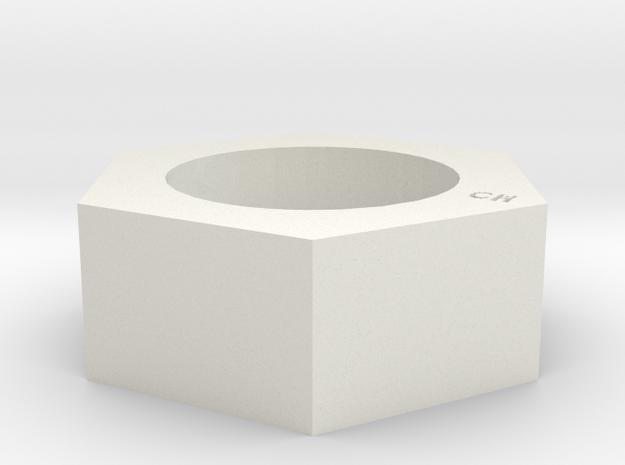 Nut Ring in White Natural Versatile Plastic