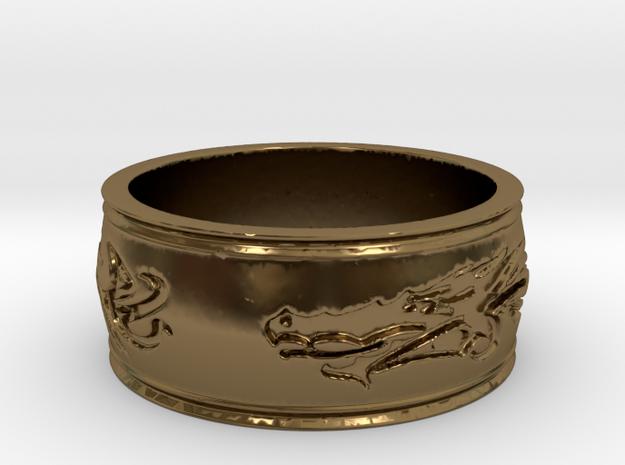 Regent Dragon Ring Size 8 3d printed