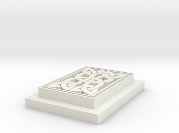 Keltic Knotwork in White Natural Versatile Plastic