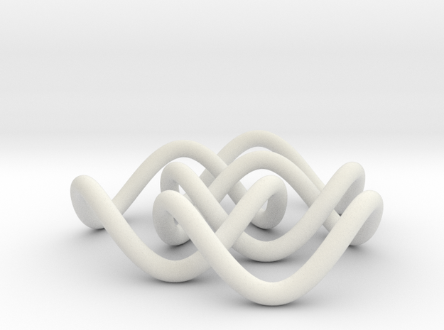 Borromean 6cm, thin in White Natural Versatile Plastic