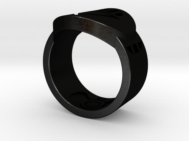 Death FF Ring 9 in Black Natural Versatile Plastic