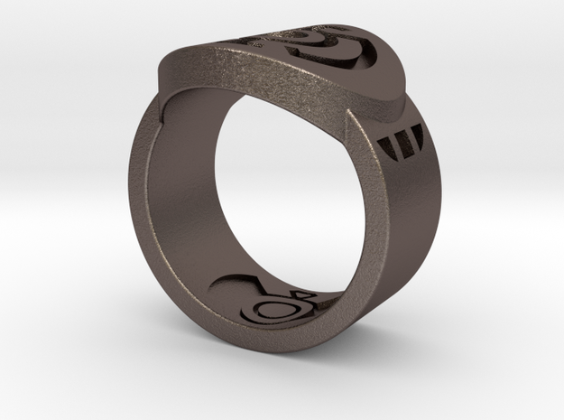 Blue Hope FF Ring Sz 9 in Black Natural Versatile Plastic