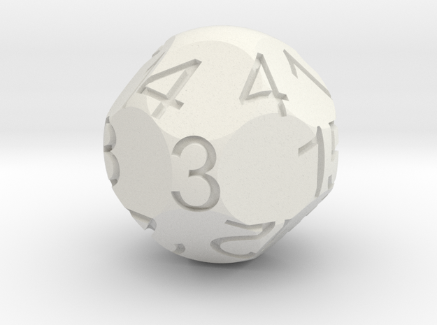 D15 Sphere Dice in White Natural Versatile Plastic