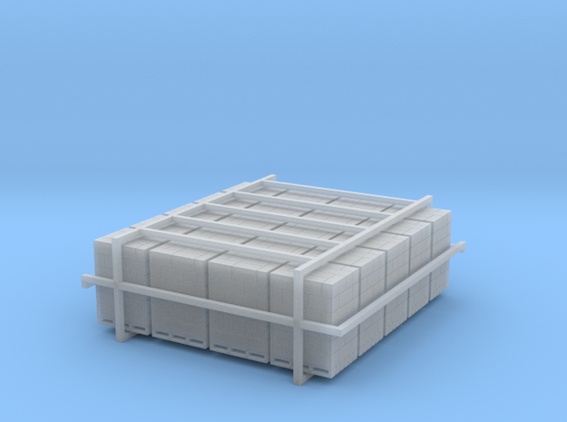 20 Pallets Of Boxes 1:120 in Smooth Fine Detail Plastic