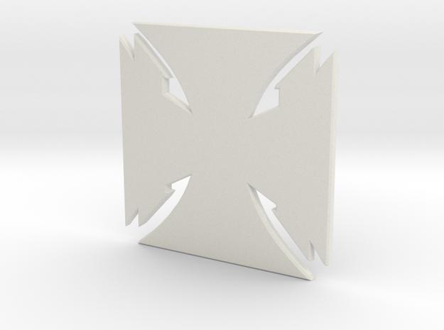 Crest of Gray heir in White Natural Versatile Plastic