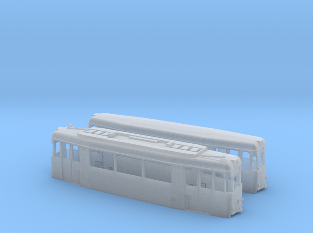 Gotha T2/B2-62 tram set (two direction) in Smooth Fine Detail Plastic