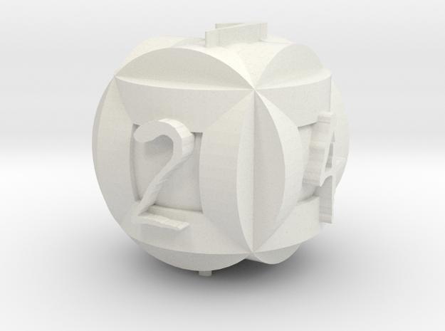 Circle Die 2 in White Natural Versatile Plastic
