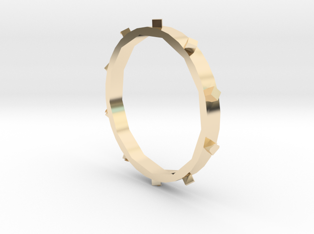 Unholey Ring Sz. 5 in 14K Yellow Gold
