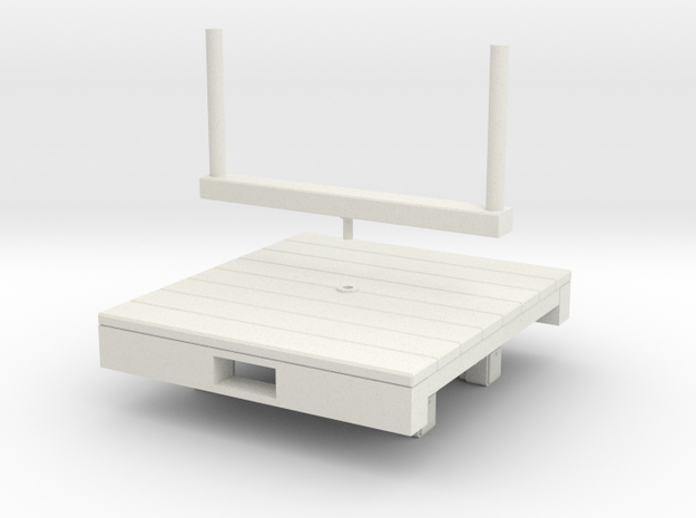 Gn15 bolster wagon  in White Natural Versatile Plastic