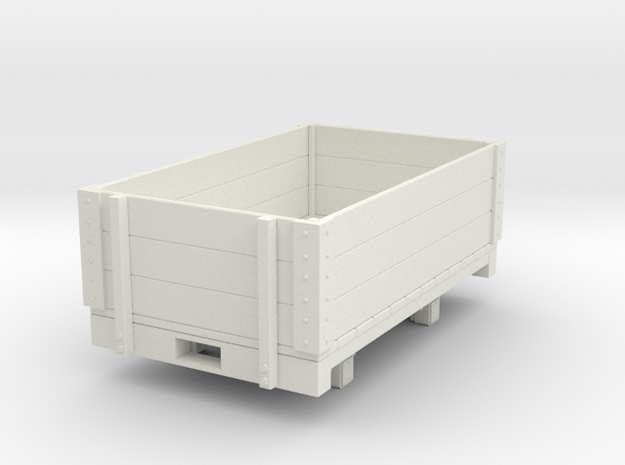 Gn15 open wagon in White Strong & Flexible