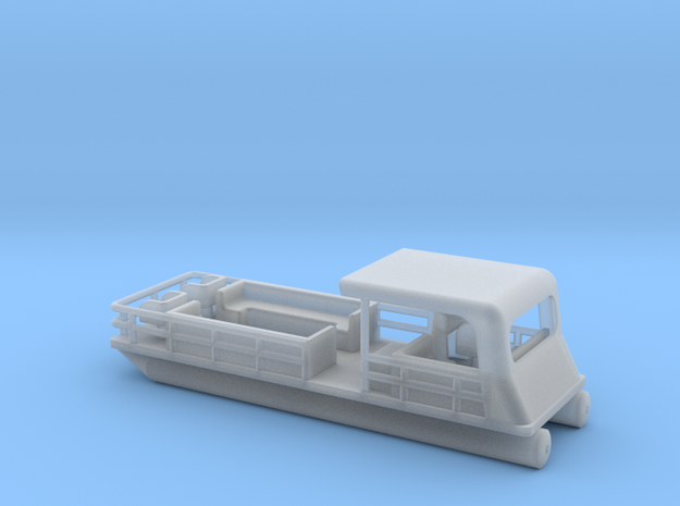 Pontoon Boat - Nscale in Smooth Fine Detail Plastic