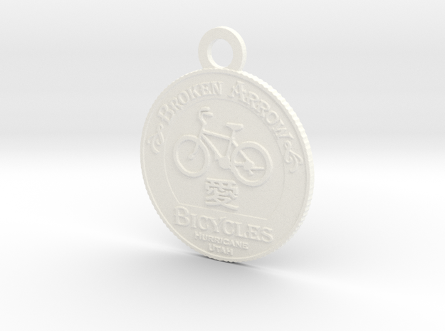 Broken Arrow Bicycles Medallion 3d printed