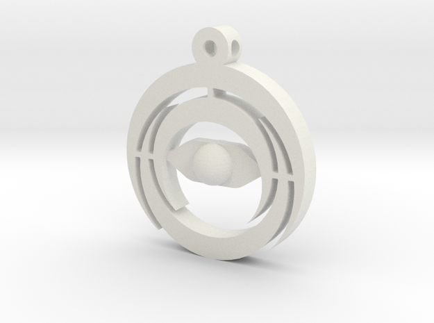 Tripple Crescent Necklace & Key Ring 3d printed