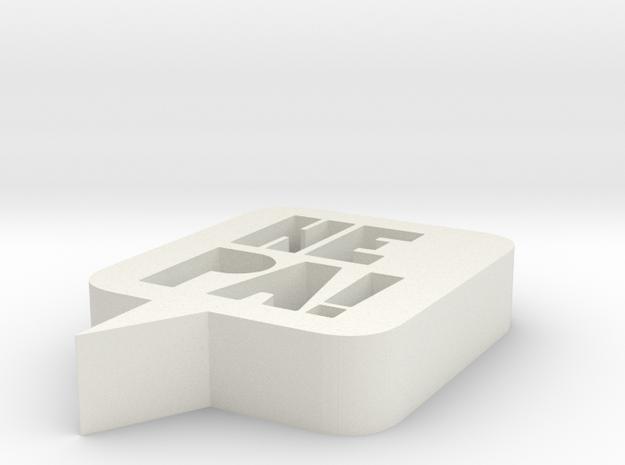 HEPA logo - 3x0,6 in - 7,6cm 3d printed