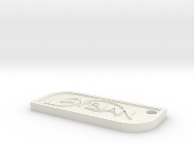 Sybian Keychain in White Natural Versatile Plastic