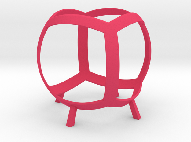 Cube (stereographic projection) 3d printed