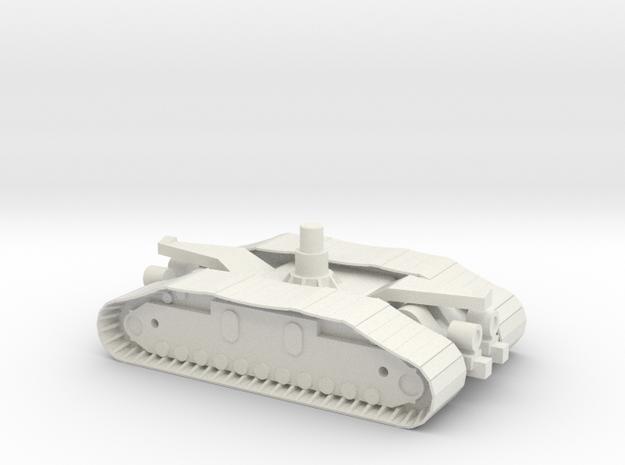 1/72 NASA Crawler Unit with fixed tracks in White Natural Versatile Plastic