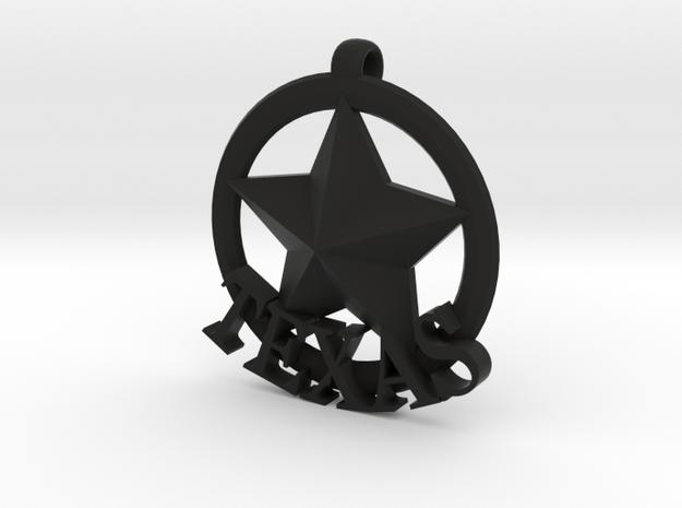 basic TEXAS badge in Black Natural Versatile Plastic