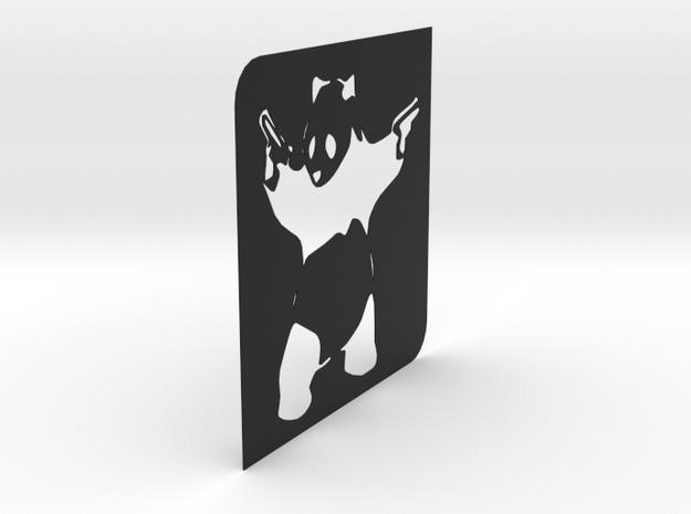 Panda Stencil - BANKSY 3d printed