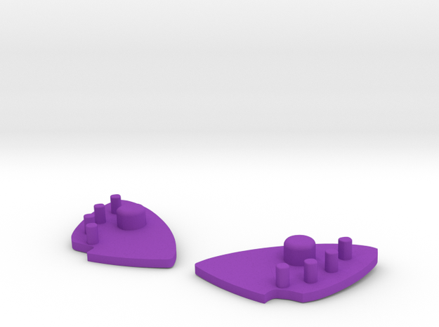 DOUBLE RING BUTTERFLY INSERTS 3d printed